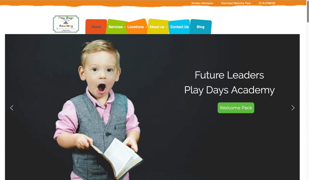 Nursery website design by nagra web design agency Leicester