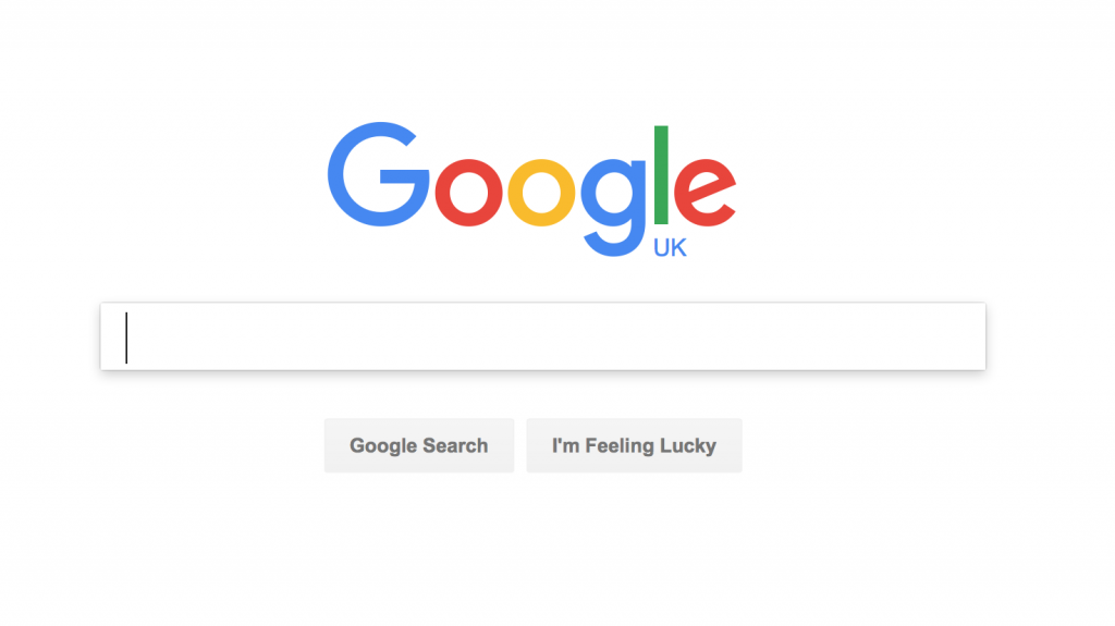 Google Search Engine default page